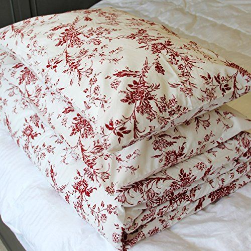 French Country 100 Full Queen Cotton Floral Pattern Red Country Bedroom Furniture Duvet Bedding Duvet Cover Pattern