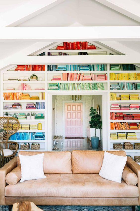 Elsie's Rainbow Bookshelves