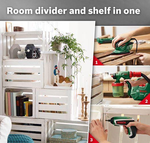 raumteilerregal aus obstkisten diy haus hof pinterest obstkisten kisten und raumteiler. Black Bedroom Furniture Sets. Home Design Ideas