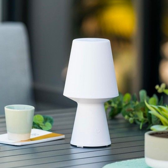 Lampe Led D Exterieur Sans Fil Nomade Lampe Sansfil Wireless Jardin Table Soiree Apero Barbecue Ambiance Lumiere Rechar