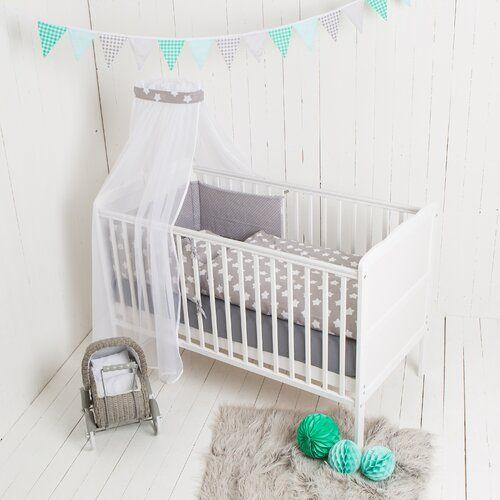 3 Tlg Babybettwasche Set Sterne Puckdaddy Farbe Grau Weiss Ikea