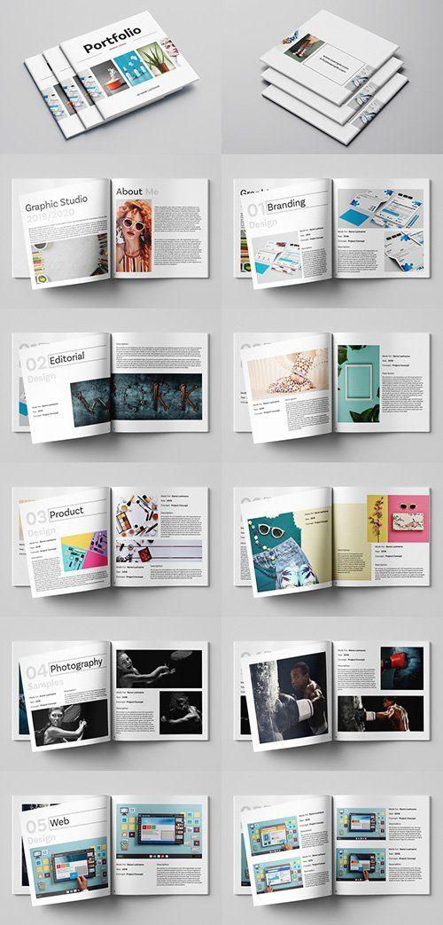 Square Graphic Design Portfolio Layout 253642951 Indt In 2020 Graphic Design Portfolio Layout Portfolio Design Layout Portfolio Design