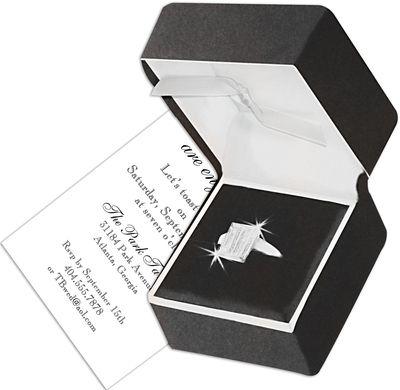 Engagement Ring Die-Cut Invitations