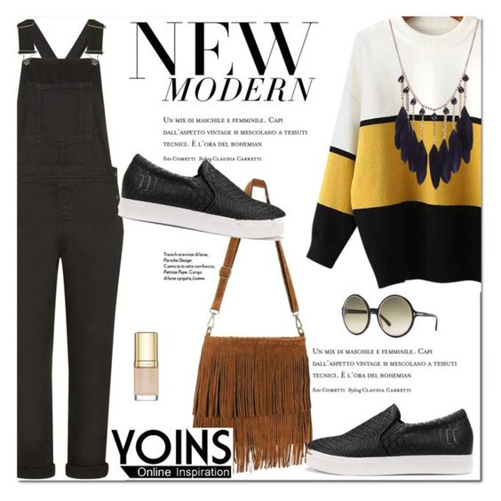 """Fall Sweater With YOINS"" by fattie-zara ❤ liked on Polyvore featuring Topshop, Tom Ford, Dolce&Gabbana and yoinscollection"