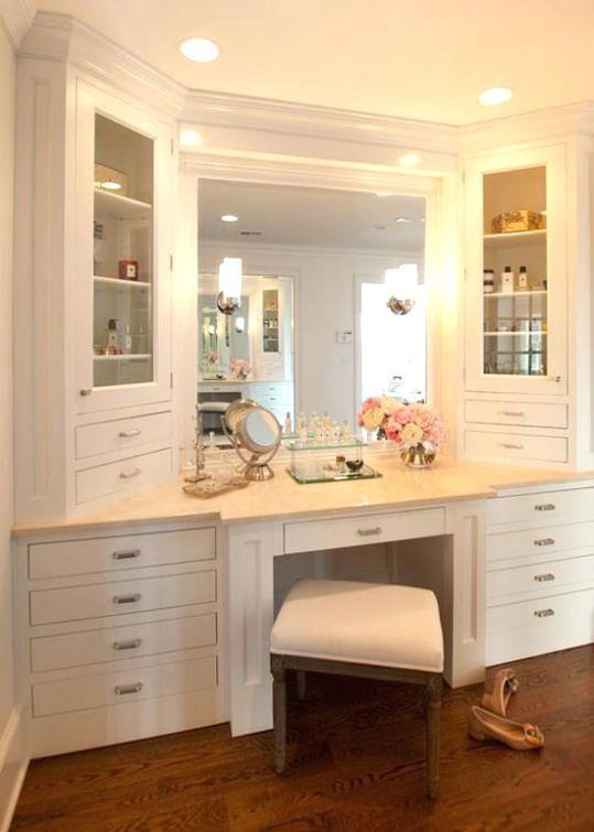 30 Best Bathroom Storage Ideas And Favorite By Many People Bathroom With Makeup Vanity Vanity Design Built In Vanity