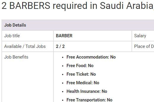 Barber Jobs In Saudi Arabia 2019 Barber Jobs Jobs In Pakistan Job