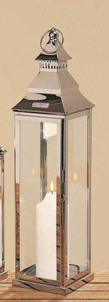 Laterne Wellington 60 cm Metall Laterne Deko silber farbig Neu in Möbel & Wohnen, Dekoration, Kerzenständer & Teelichthalter | eBay