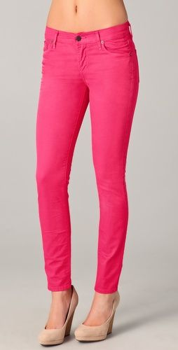 citizens of humanity hot pink skinny jeans: