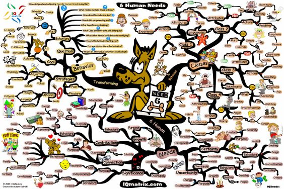 The 6 Human Needs mind map delves into the fundamental building blocks of personality – the 6 Human Needs. The Mind Map breaks down the 4 different types of Behavioral Classes that all human behavior falls into. In addition the Mind Map identifies the 6 Human Needs; discusses their significance, and concludes by presenting several questions and strategies that will help you to transform your behavior and align it in such a way that it meets your needs. Price: $7.00 @ http://ow.ly/cB10H