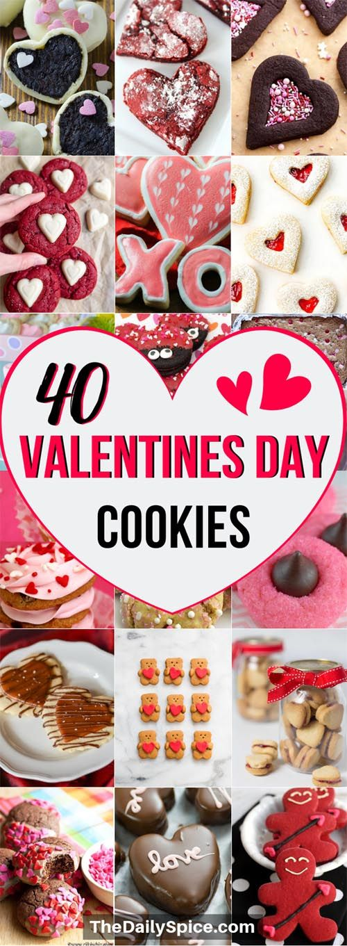 40 Easy Valentines Day Cookies: Adorable Sweets - The Daily Spice