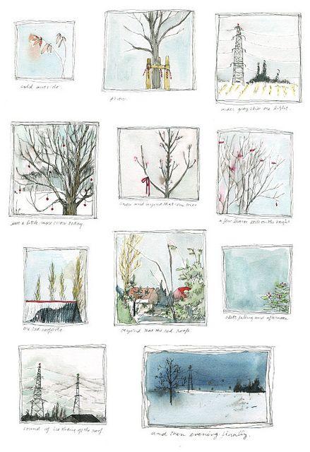 It reminds me the works of my wonderful friend @Licia Battarra!#art #trees #winter