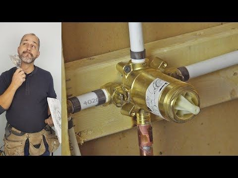 Diy How To Install Copper To Pex Shower And Bath Plumbing Youtube Plumbing Installation Plumbing Shower Plumbing