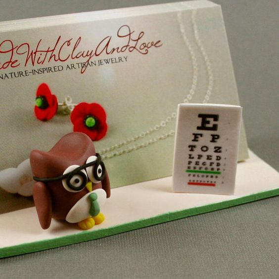 Hand Sculpted Business Card Holder  by MadeWithClayAndLove on Etsy, $25.00