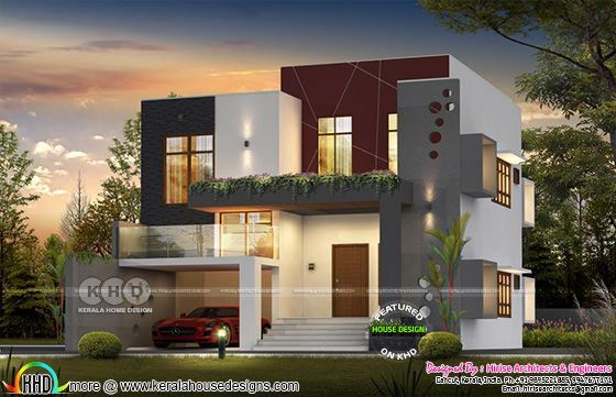 2600 Square Feet Modern Contemporary House In 2020 Bungalow