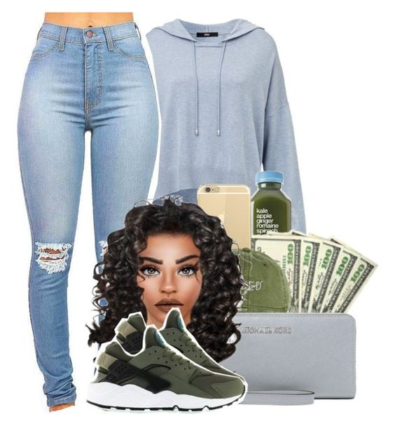 """""""."""" by heavensincere ❤ liked on Polyvore featuring MICHAEL Michael Kors and NIKE"""