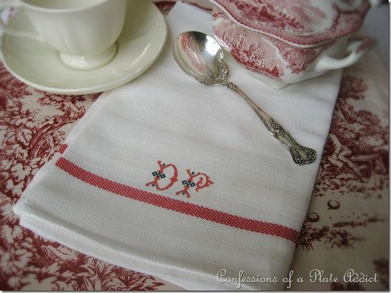 Tea towels from IKEA (79 cents!) with an added iron-on transfer