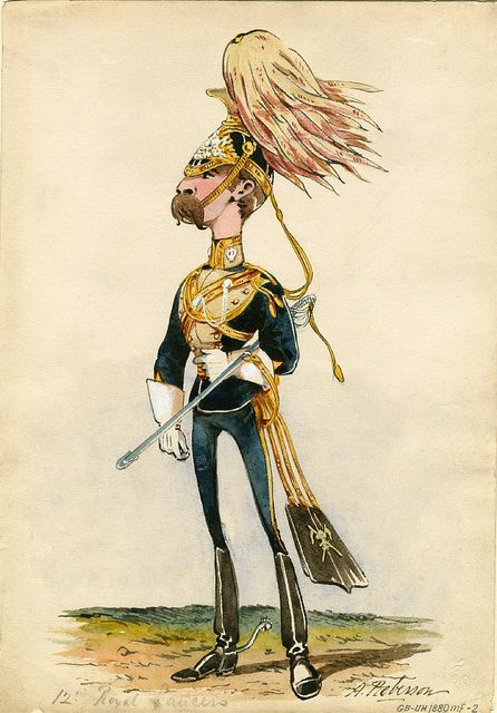 12th (The Prince of Wales's) Royal Lancers. Full dress (1880) Roberson by peacay, via Flickr