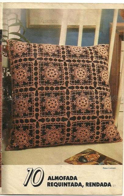 Ivelise Feito à Mão: Meus Trabalhos: Almofada Em Crochê Vintage....
