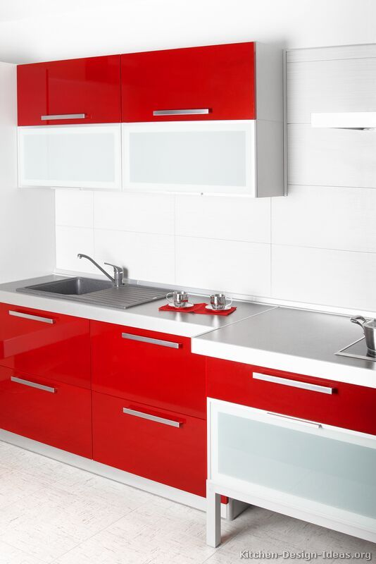 Red Kitchens | Pinterest | Red Kitchen, Modern And Kitchens