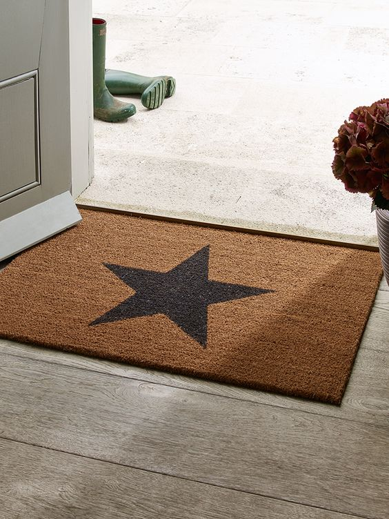 Made from hard-wearing coir with a durable rubber back to prevent slipping, our star doormats are perfect for protecting your floors and carpets from muddy feet. Ideal for by the backdoor, front door or utility room, our medium and extra-large natural coir doormats both feature a black star print in the centre.