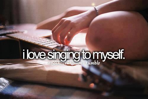 ♥ cantar sozinha