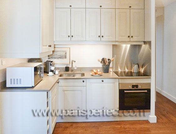 Fully equipped French country-style kitchen