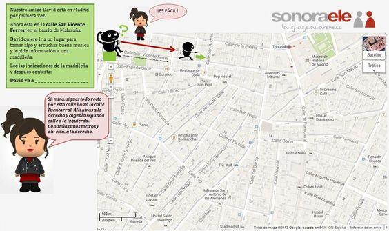 ONLINE SPANISH - SONORA ELE: TEMA: Indicaciones para llegar a un lugar