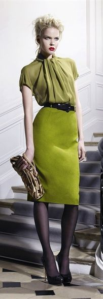 Dior. Love the green on green.