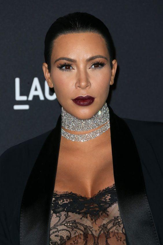 Collar De Gargantilla De Diamantes, Collar De Cuello, Collares Gargantilla, Diamante Kardashian, Kim Kardashian Gargantilla, Estilo Kardashian, Gargantillas