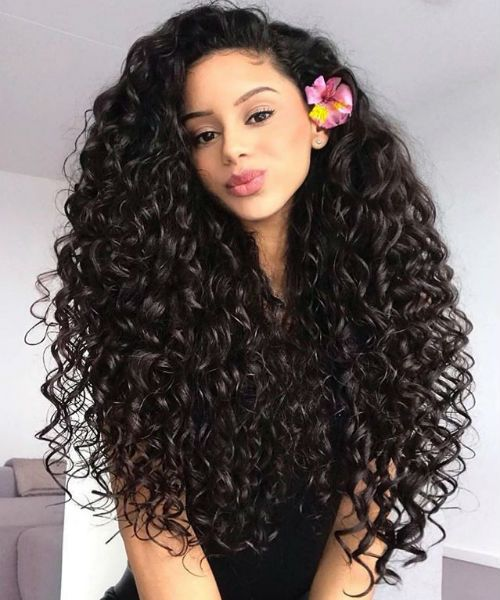 Delightful Long Curly Hairstyles 2019 For Girls And Women To Try Right Now Messy Hairstyle Curly Hair Styles Naturally Natural Hair Styles Curly Hair Styles