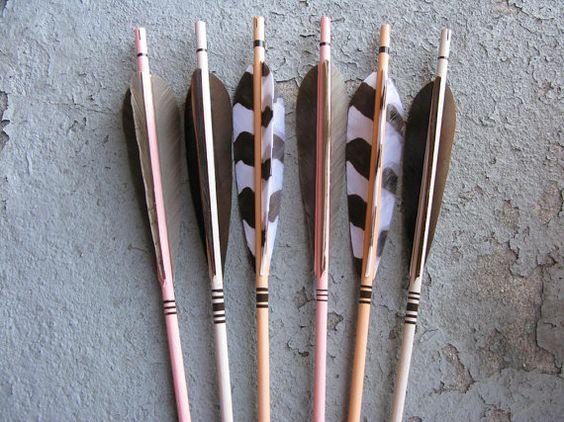 Animal Print Feathers on Archery Arrows for Home by FletcherandFox
