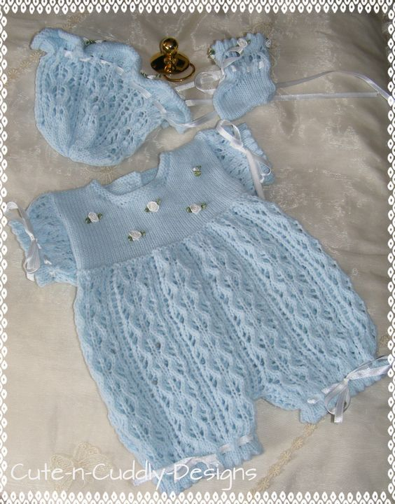 Rompers Knitting Patterns And Knitting On Pinterest