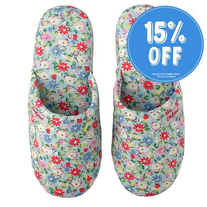 Meadow Ditsy Printed Cotton Slippers