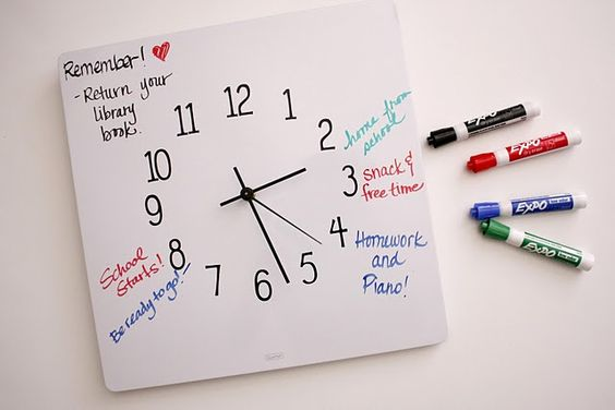 Dry erase board turned clock
