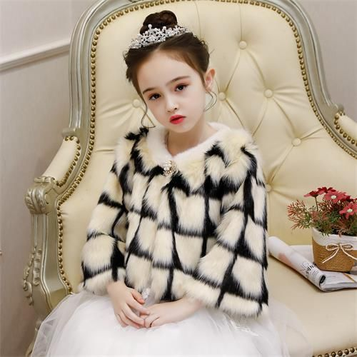 Kids Flower Girl Shrug Faux Fur Bolero Shawl Wrap Coat Jacket Cloak Cape Wedding