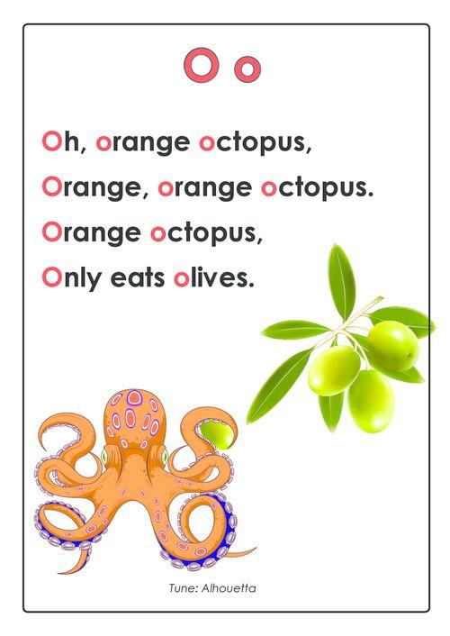 ABC Songs – Letter O  #Preschool #Songs #Learning #Pre-Reading #rhyme