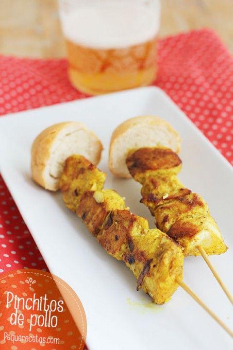 Pinchitos De Pollo Receta De Pinchos Morunos Pequerecetas Pinchos De Pollo Tapas Y Aperitivos Aperitivos Deliciosos
