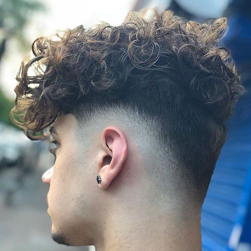 40++ Curly hair fade white guy inspirations