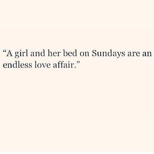 Sunday funday is always good but really love lazy Sundays