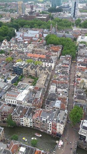 Luchtfoto vanaf de Dom