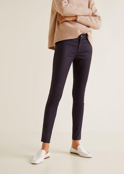 Тёмные джинсы скинни
