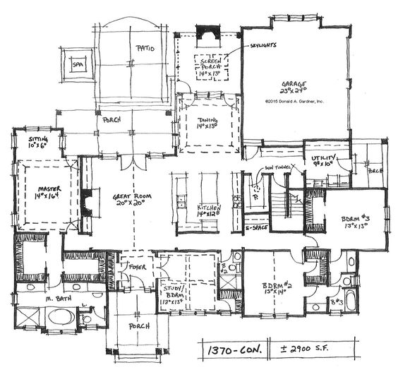 Home plan 1370 now available house plans drawings and for House with side garage