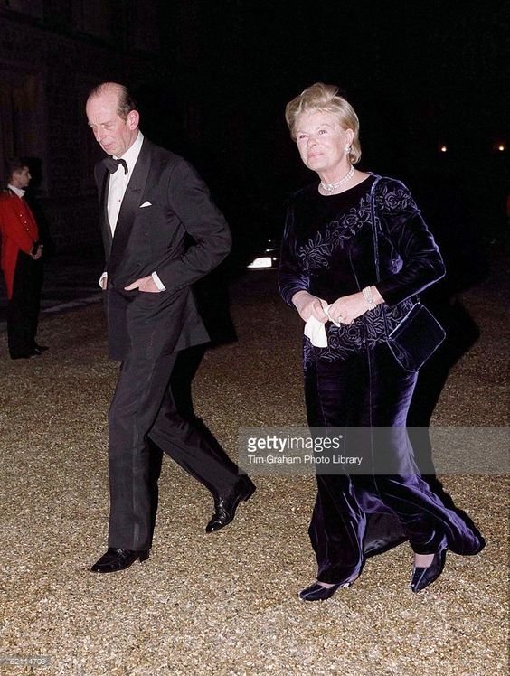 The Duke And Duchess Of Kent Arriving For A Ball At Windsor Castle To Celebrate The Royal Golden Wedding Anniversary.