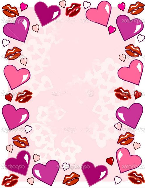 border design pink heart httpallborderdesignscom