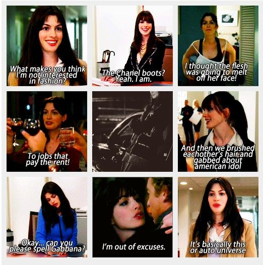 The Devil Wears Prada-- Anne Hathaway quotes