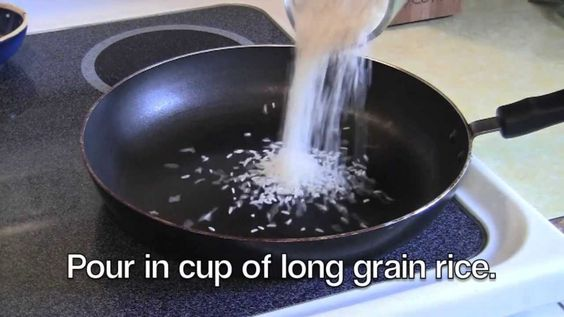 How to make Spanish rice in 20 mintues.