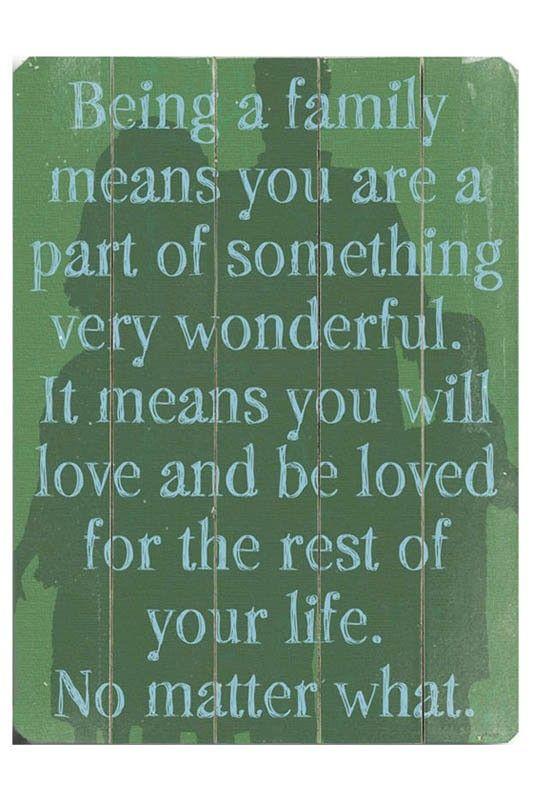 Unfortunately  must accept it, cause it is not in all family's, but sure it is in my own, love and be loved!