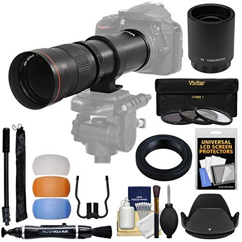 Vivitar 420 800mm F 8 3 Telephoto Zoom Lens T Mount With 2x Teleconverter 1600mm Monopod 3 Filters Kit Fo Dslr Photography Tips Camera Gear Dslr Ideas
