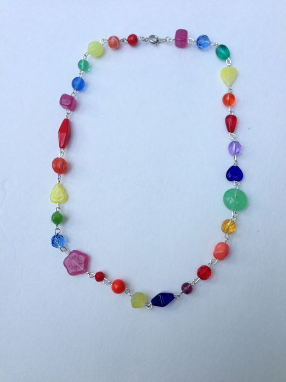 Bead Rainbow Necklace Benefits the Human Rights Campaign on Etsy, $16.00