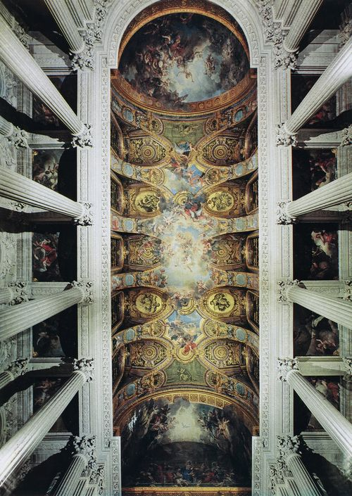 Versailles chapel ceiling late baroque early rococo for Churches of baroque period